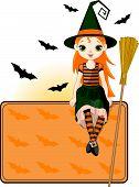 Постер, плакат: Маленький Хэллоуин ведьмы место карта