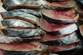 picture of blubber  - Freshed fish slices sell in local market - JPG