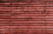 stock photo of red barn  - Rustic red barn boards make a barn board background - JPG