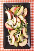 foto of rocket salad  - peach salad with rocket - JPG