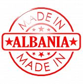 pic of albania  - Made in Albania red seal image with hi - JPG
