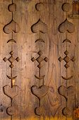 stock photo of carving  - Wood carved ornament  - JPG
