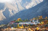 foto of nepali  - Nepali village of Muktinath along the Annapurna circuit trail - JPG