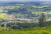 foto of bavaria  - View to Nesselwang in the Allgaeu Bavaria Germany - JPG