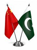 stock photo of pakistani flag  - China and Pakistan  - JPG
