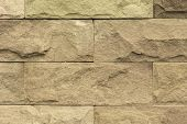 image of wall-stone  - This picture is stone wall texture Its made from stiff stone - JPG