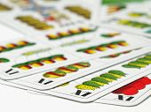 foto of skat  - Hungarian for card games such as Preferans,Belot which are played in some parts of Europe,shallow DOF