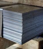 Bale Of Steel Sheet In A Factory