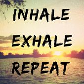 Quote About Relaxation And Peac poster