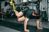 Mans Fitness - Trx Exercising poster