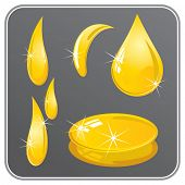 Vector Honey Drops set 2