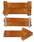 Viejas tablas de madera realistas y tablones, vector illustration