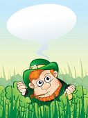 Fun leprechaun with speech