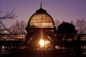 Palacio De Cristal en el Parque de la ciudad del Retiro, Madrid