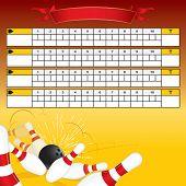 Bowling scoreboard-vector