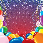 Festive vector background for your text -MORE BALLOONS SEE AT MY GALLERY