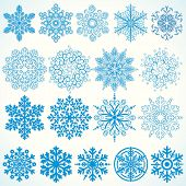 Snowflakes Collection - christmassy vector design elements