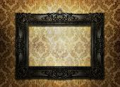 Black ornate picture frame