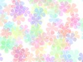 pic of pastel colors  - Background with colorful pastel flowers - JPG