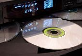 CD player with open tray