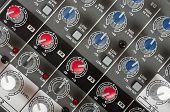 Console de controle de áudio