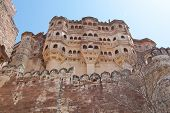 Fortress View From Below, Jodhpur, India