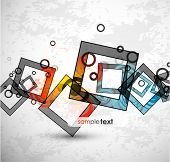 Abstract warm squares. Vector design