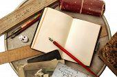 Vintage writing arrangement