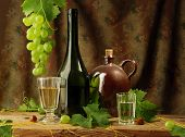Still life with wine, vintage style