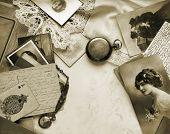 Sentimental memories, in sepia tone