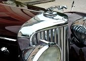 RATIBORICE, CZECH REPUBLIC - AUGUST 7: IX. Vintage car show  - Detail of Jaguar model from 1930s.  A