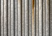 Ribbed metal texture.