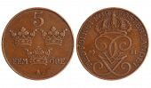 Antique Coin Of Sweden 1921 Year