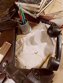 Vintage desktop letter military background