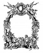 Victorian styled heraldic frame