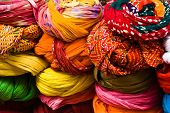 Turbans Sold In A Market