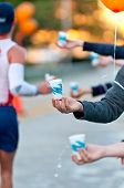 Water During A Marathon