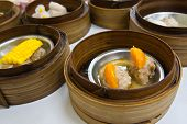 Dimsum In Bamboo Container