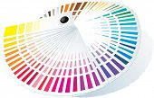 Color guide to match colors for print. Vector