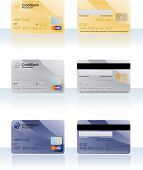 Credit cards. Vector.