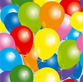 foto of happy birthday  - Seamless Balloons - JPG