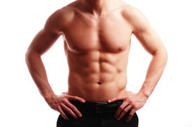 foto of fitness man body  - a very fit person perfect for fitness related concepts - JPG