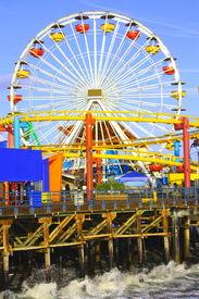image of ferris-wheel  - Landmark Santa Monica - JPG