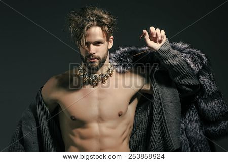 Man With Fur Coat On
