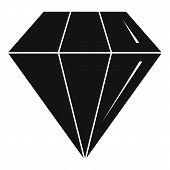 Diamond Stone Icon. Simple Illustration Of Diamond Stone Icon For Web Design Isolated On White Backg poster