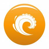 Wave Water Surfing Icon. Simple Illustration Of Wave Water Surfing Icon For Any Design Orange poster