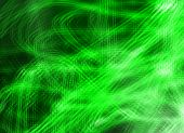 Bright Green Glare Glaring Curves Lines Abstract Design Background poster