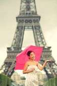 Eiffel Tower Paris Woman poster