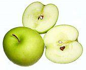 Green Apple & Slice