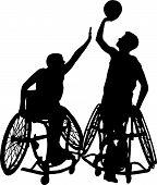 Wheelchair Basketball Silhouette